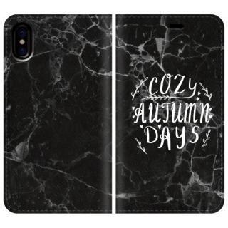 手帳型ケース COZY AUTUMN DAYS iPhone X