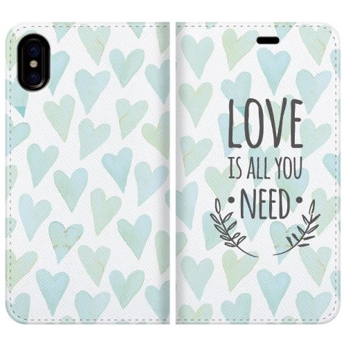 iPhone X ケース 手帳型ケース LOVE IS ALL YOU NEED 2 iPhone X_0