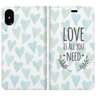 iPhone X ケース 手帳型ケース LOVE IS ALL YOU NEED 2 iPhone X