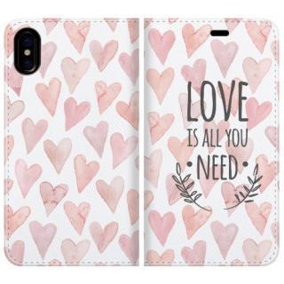 手帳型ケース LOVE IS ALL YOU NEED 1 iPhone X