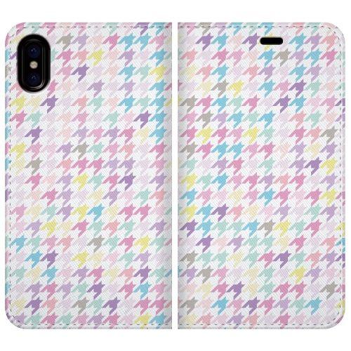 iPhone X ケース 手帳型ケース Zigzag pattern iPhone X_0
