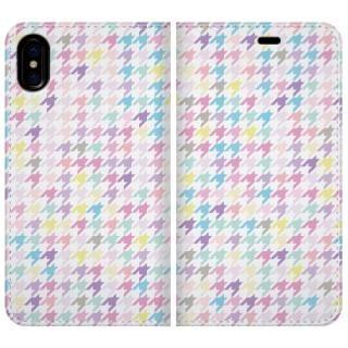 手帳型ケース Zigzag pattern iPhone X