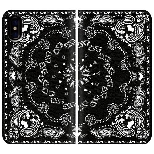 iPhone X ケース 手帳型ケース Damask pattern 2 iPhone X_0