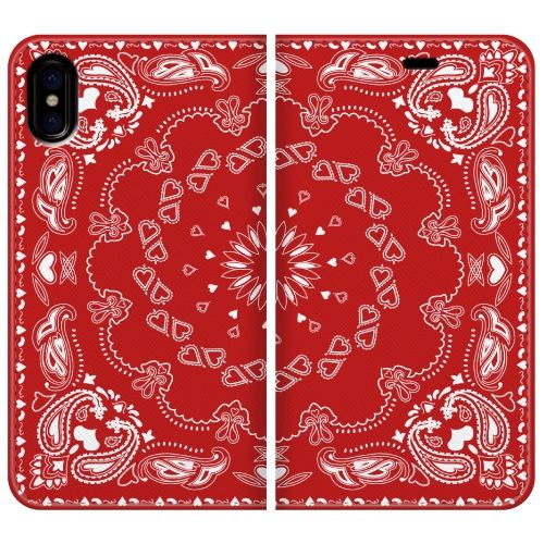 iPhone X ケース 手帳型ケース Damask pattern 1 iPhone X_0