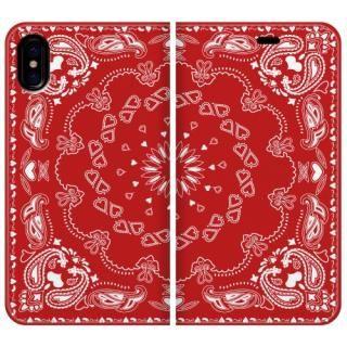 手帳型ケース Damask pattern 1 iPhone X