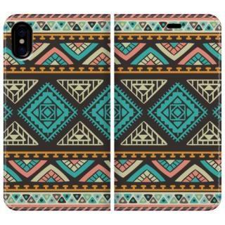 手帳型ケース Indian pattern iPhone X【10月下旬】