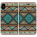 手帳型ケース Indian pattern iPhone X