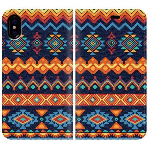 iPhone X ケース 手帳型ケース Ethnic pattern iPhone X_0