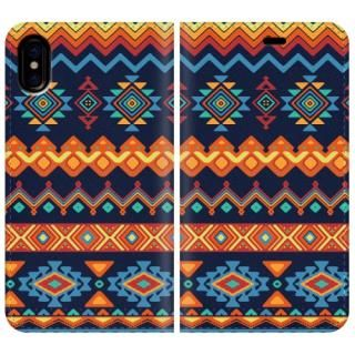 手帳型ケース Ethnic pattern iPhone X