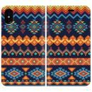 手帳型ケース Ethnic pattern iPhone X