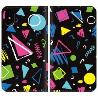 手帳型ケース colorful Geometry iPhone X【10月下旬】