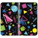 手帳型ケース colorful Geometry iPhone X