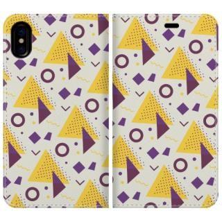 手帳型ケース Triangle pattern iPhone X【10月下旬】