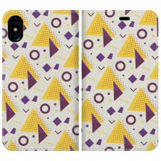 手帳型ケース Triangle pattern iPhone X