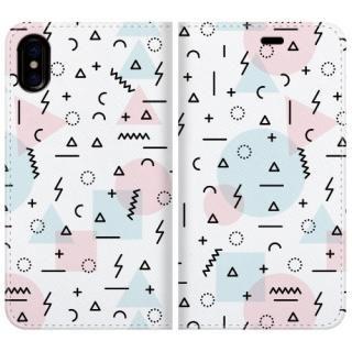 手帳型ケース Insanely pattern iPhone X【10月下旬】