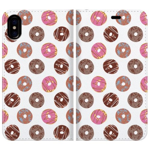 iPhone X ケース 手帳型ケース Delicious donuts iPhone X_0
