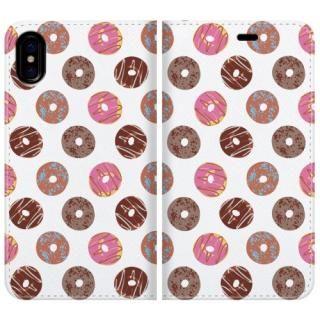 手帳型ケース Delicious donuts iPhone X【10月下旬】