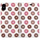 手帳型ケース Delicious donuts iPhone X