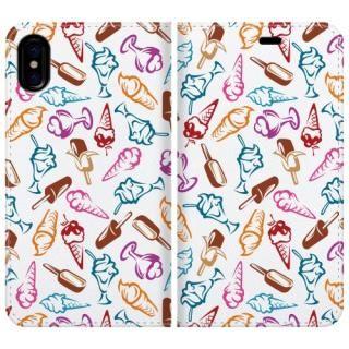 手帳型ケース Ice cream pattern iPhone X