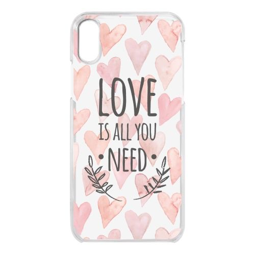 iPhone X ケース クリアケース LOVE IS ALL YOU NEED 1 iPhone X_0