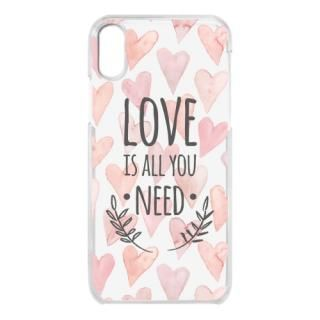iPhone X ケース クリアケース LOVE IS ALL YOU NEED 1 iPhone X