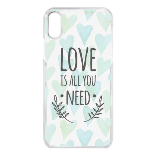 iPhone X ケース クリアケース LOVE IS ALL YOU NEED 2 iPhone X_0