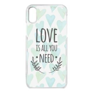 iPhone X ケース クリアケース LOVE IS ALL YOU NEED 2 iPhone X