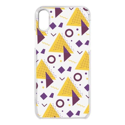 iPhone X ケース クリアケース Triangle pattern iPhone X_0
