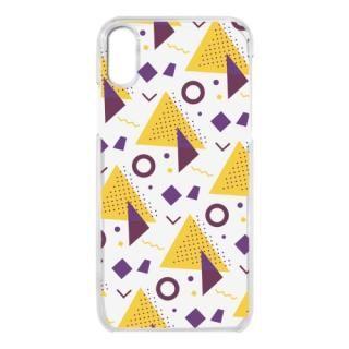 【iPhone Xケース】クリアケース Triangle pattern iPhone X