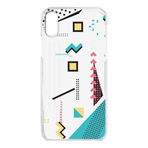 iPhone X ケース クリアケース Retro Geometry iPhone X_0