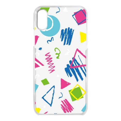 iPhone X ケース クリアケース colorful Geometry iPhone X_0