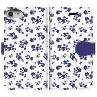 【iPhone8/7ケース】手帳型ケース Detailed flower iPhone 8/7