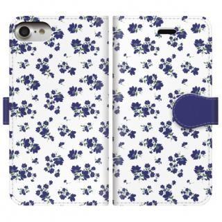 手帳型ケース Detailed flower iPhone 8/7