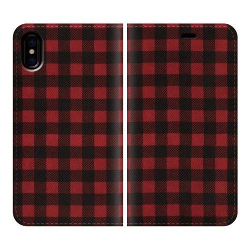 【iPhone Xケース】手帳型ケース Gingham-Red iPhone X_0