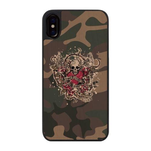 【iPhone Xケース】ウッディフォトケース Heart Lock  iPhone X_0