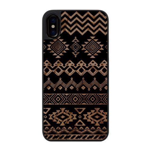 iPhone X ケース ウッドカービングケース Ethnic pattern iPhone X_0