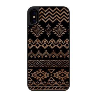 ウッドカービングケース Ethnic pattern iPhone X