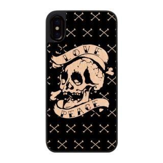 ウッディフォトケース LOVE PEACE  iPhone X