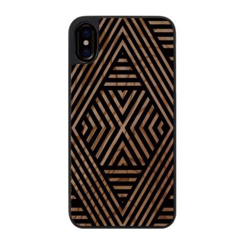 iPhone X ケース ウッドカービングケース Geometric mood1 iPhone X_0