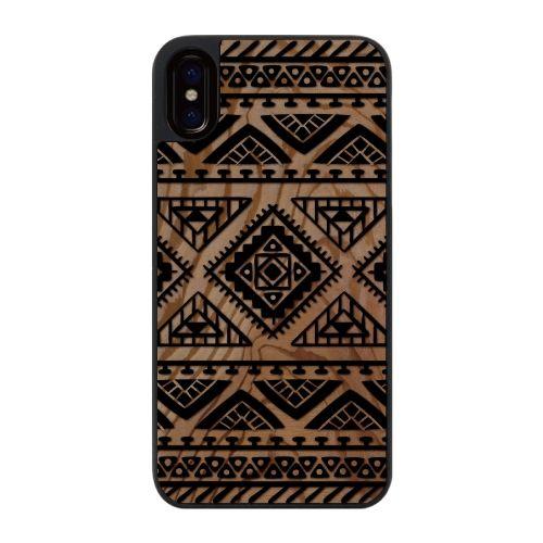 【iPhone Xケース】ウッドカービングケース Indian pattern iPhone X_0