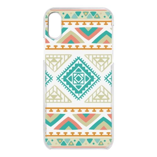 iPhone X ケース クリアケース Indian pattern iPhone X_0