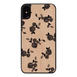 ウッディフォトケース lace flower iPhone X