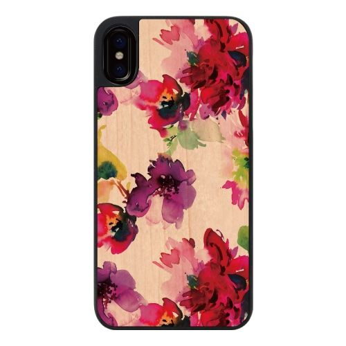 iPhone X ケース ウッディフォトケース Splash flower iPhone X_0