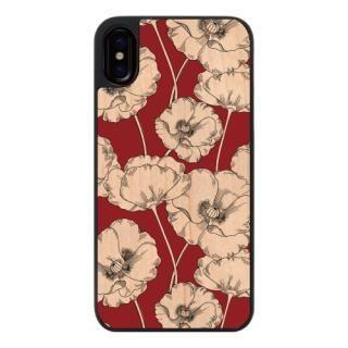 ウッディフォトケース Retro poppy iPhone X