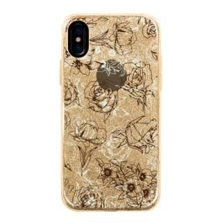 グリッターケース cover flower iPhone X