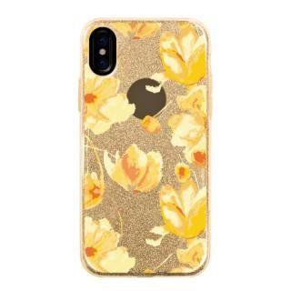 グリッターケース flower shower iPhone X