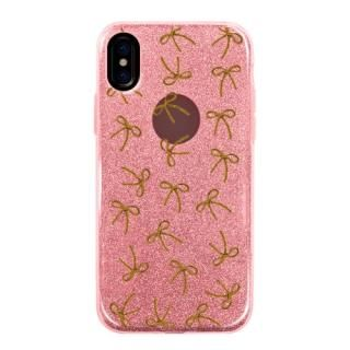 グリッターケース embroidery ribon iPhone X