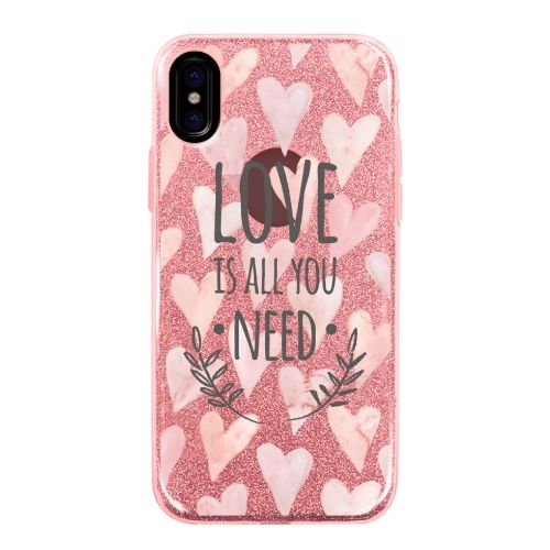 iPhone X ケース グリッターケース LOVE IS ALL YOU NEED 1 iPhone X_0
