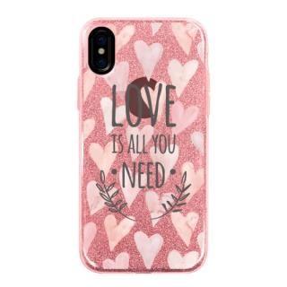 グリッターケース LOVE IS ALL YOU NEED 1 iPhone X