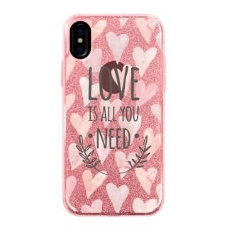 グリッターケース LOVE IS ALL YOU NEED 1 iPhone X